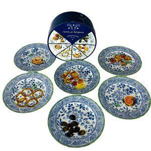 6 Isabelle de Borchgrave Dessert Plates Canapé